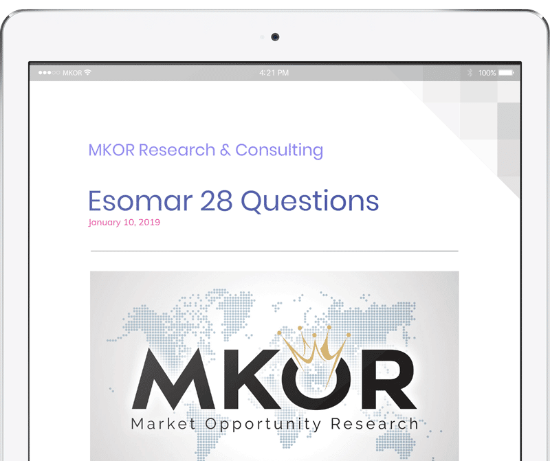 MKOR-Research-esomar-28-questions