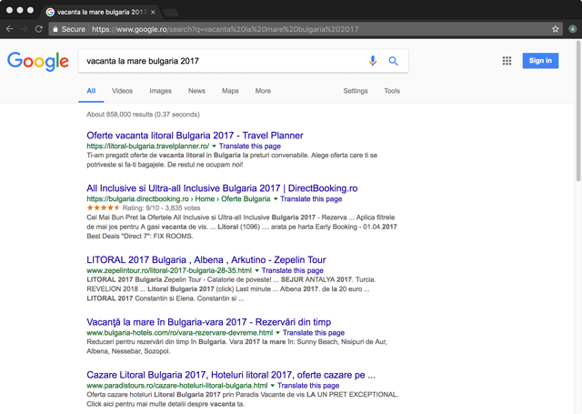rezultate-google-vacanta-mare-bulgaria-2017