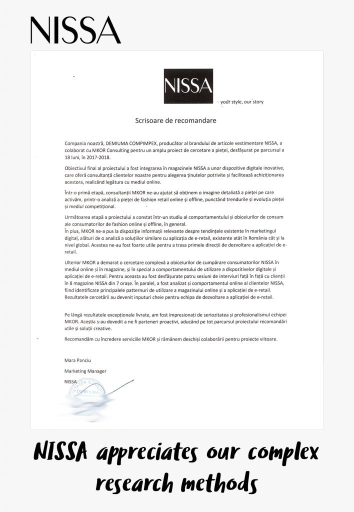 nissa fashion research testimonial